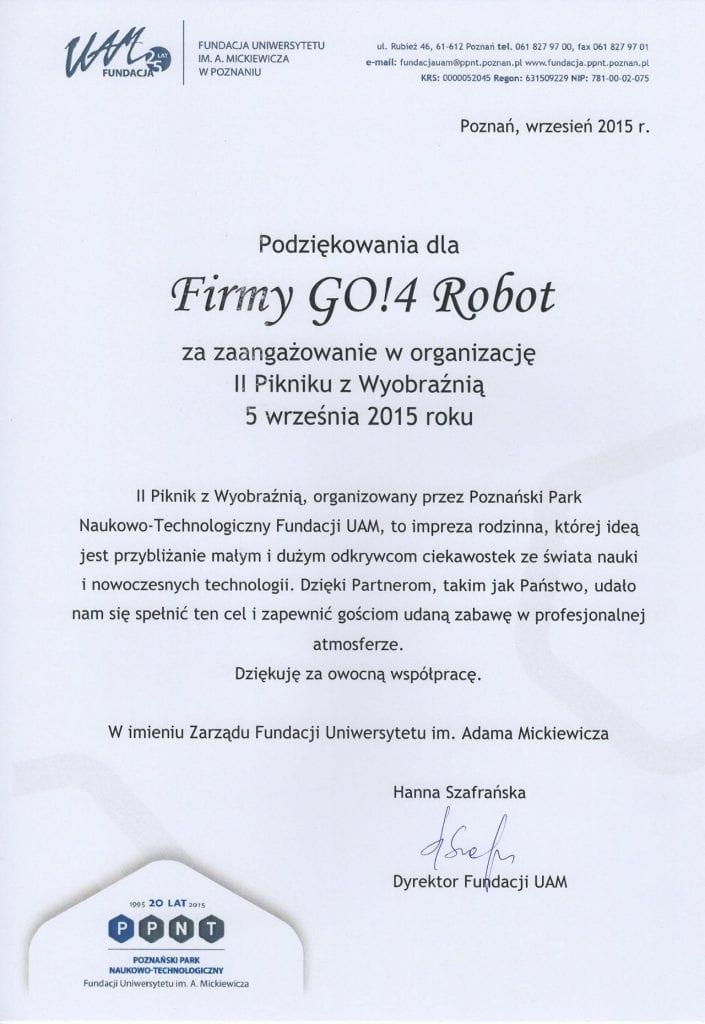 Dyplom Go4robot