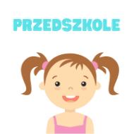 Dziewczynka z napisem przedszkole